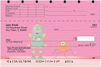 Robot Friends Top Stub Personal Checks