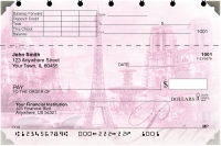 Bonjour Paris Top Stub Personal Checks