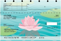 Water Lilies Top Stub Personal Checks