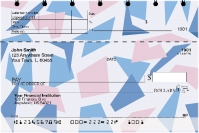 Geometric Pastels Top Stub Personal Checks
