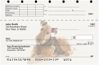Airedale Terrier Top Stub Personal Checks