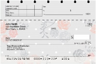 Floral Patterns Top Stub Personal Checks