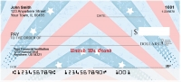 Red, White and Blue Personal Checks