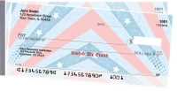 Red, White and Blue Side Tear Personal Checks