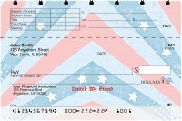 Red, White and Blue Top Stub Personal Checks