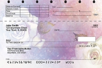 Watercolor Flowers Top Stub Personal Checks