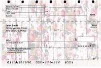 Shabby Chic Flowers Top Stub Personal Checks