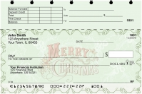 Christmas is Calling Top Stub Personal Checks