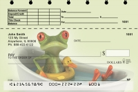 Funky Frogs Top Stub Personal Checks