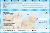 Golden Retriever Pups Keith Kimberlin Top Stub Personal Checks
