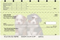 Australian Shepherd Pups Keith Kimberlin Top Stub Personal Checks