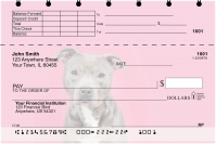 Bully Breed Love Top Stub Personal Checks