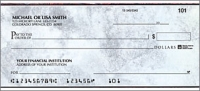 Executive Gray Side Tear Personal Checks - 1 Box