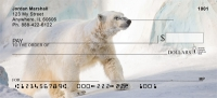 Polar Bears on Ice Personal Checks