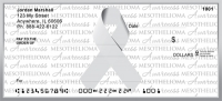 Mesothelioma Writing Awareness Ribbon Personal Checks