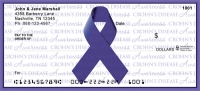 Crohn's Disease Writing Awareness Ribbon Personal Checks