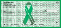 Donate Life - Organ Transplant Awareness Ribbon Personal Checks