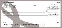 Brain Cancer Awareness Ribbon Large Personal Checks