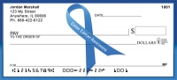 Colon Cancer Awareness Ribbon Personal Checks